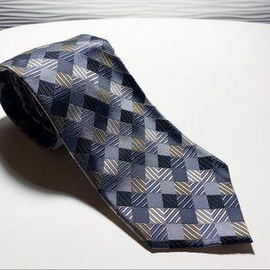 Geoffrey Beene Blue Silver Neck Tie Men's EUC